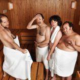 Los clientes de 'Gym Tony' en la sauna