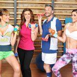 Algunos de los clientes del 'Gym Tony'