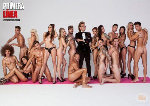 17 cuerpos de reality posan desnudos en Primera Linea