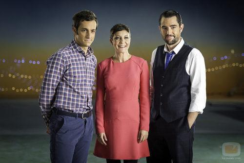 Álvaro Zancajo, Eva Hache y Dani Mateo en la campaña de Navidad de 2014
