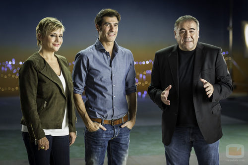 Gloria Serra, Jorge Fernández y Antonio García Ferreras
