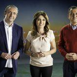 Josep Pedrerol, Helena Resano y Roberto Brasero en