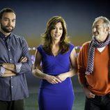 Antonio Esteva, Mamen Mendizábal y Karlos Arguiñano en