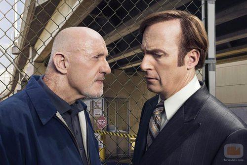 Mike y Saul en una foto promocional de 'Better Call Saul'