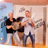 Íñigo Urrechu y Rodrigo de la Calle en el casting de 'Abran fuego'