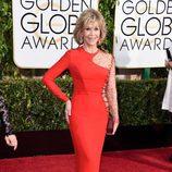 Jane Fonda, en la alfombra roja de los Globos de Oro 2015