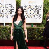 Conchita Wurst en la alfombra roja de los Globos de Oro 2015