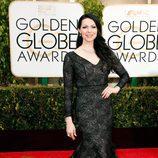 Laura Prepon en los Globos de Oro 2015