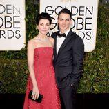 Julianna Margulies y Keith Lieberthal en los Globos de Oro 2015