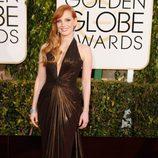 Jessica Chastain en los Globos de Oro 2015