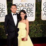 Channing Tatum y Jenna Dewan Tatum en los Globos de Oro 2015
