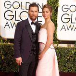Matthew MacConaughey y Camila Alves en los Globos de Oro 2015