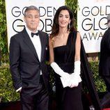 George Clooney y Amal Alamuddin Clooney en los Globos de Oro 2015