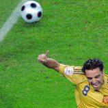 Xavi Hernández en la semifinal de la Eurocopa.