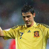 David Villa se retira lesionado del partido contra Rusia