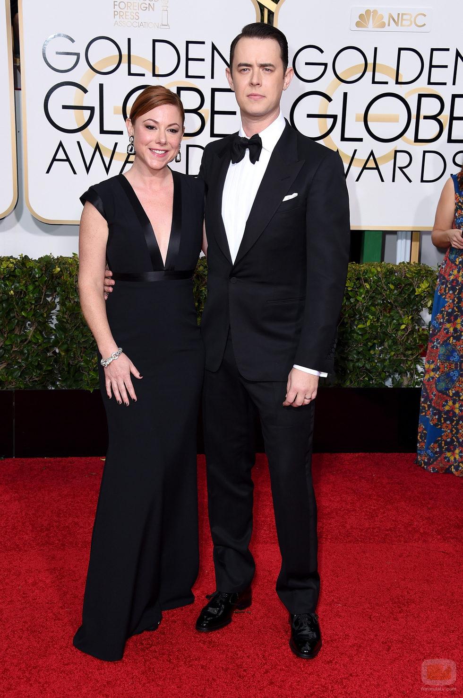Colin Hanks en los Globos de Oro 2015