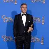George Clooney con el premio honorífico Cecil B. DeMille en los Globos de Oro 2015