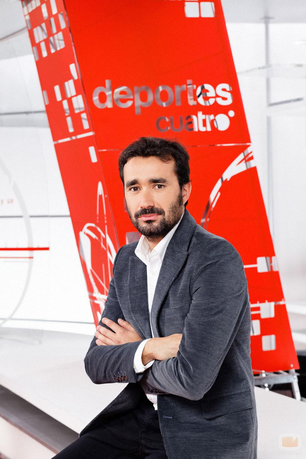 Juanma Castaño, presentador de Deportes Cuatro