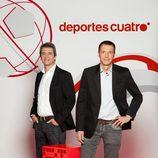 Manolo Lama y Manu Carreño, presentadores de Deportes Cuatro