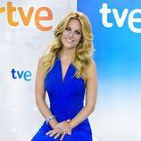 Edurne posa en la rueda de prensa del Festival de Eurovisión 2015