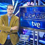 Ramón García en el plató de 'El legado'