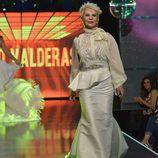 Karmele Marchante desfilando en la 'Sálvame Fashion Week'