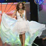 Raquel Bollo desfilando en la 'Sálvame Fashion Week'