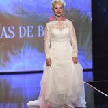 Karmele Marchante, vestida de novia en la 'Sálvame Fashion Week'