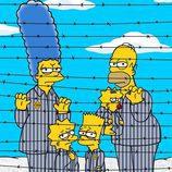 'Los Simpson' caracterizado como prisioneros de Auschwitz