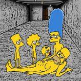 Ilustración de 'Los Simpson' en el campo de concentración