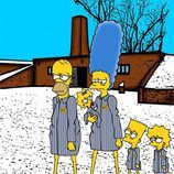 """Imagen de 'Los Simpson' en el trabajo artístico """"Nunca más"""""""