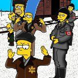 Alexsandro Palompo ilustra a 'Los Simpson' llegando a Auschwitz