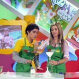 Jordi Cruz y Natalia presentando 'Megatrix'