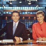 Matías Prats y Susanna Griso presentando las Noticias