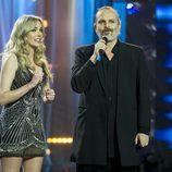 Anna Simón y Miguel Bosé en la Gala del 25 Aniversario de Antena 3