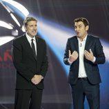 Emilio Aragón y Arturo Valls en la Gala del 25 Aniversario de Antena 3