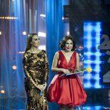 Mónica Naranjo e Isabel Gemio en la Gala del 25 Aniversario de Antena 3