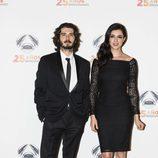 Yon González y Blanca Romero en la fiesta del 25 aniversario