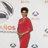 Irma Soriano en la fiesta del 25 aniversario de Antena 3