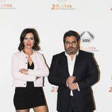 Jalis de la Serna y Alejandra Andrade en la fiesta de Antena 3