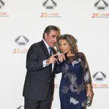 Carlos Herrera y Julia Otero en la fiesta del 25 aniversario de Antena 3