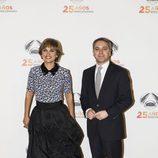 Lourdes Maldonado y Vicente Vallés en la fiesta del 25 aniversario de Antena 3