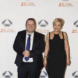 Alberto Chicote y Susi Díaz en la fiesta del 25 aniversario de Antena 3
