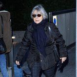 Tina Sainz despidió a la actriz Amparo Baró en el tanatorio