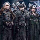 Los personajes Roose Bolton, Ramsay Bolton y Walda Frey