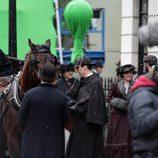 Benedict Cumberbatch en Londres grabando el capítulo de Navidad 2015 de 'Sherlock'