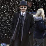 Martin Freeman filmando 'Sherlock' para el especial de Navidad 2015
