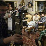 El equipo técnico de 'Acacias 38' en plena grabación de la serie