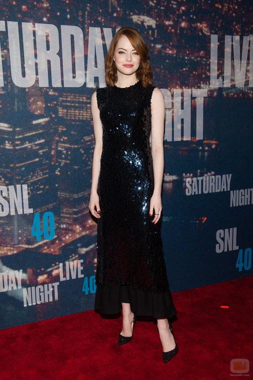 Emma Stone en la fiesta de 'Saturday Night Live'