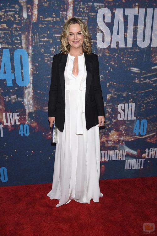 Amy Poehler en el 40 aniversario de 'Saturday Night Live'